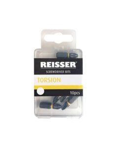 Reisser Torsion Bits PZ2 25mm pack of 10
