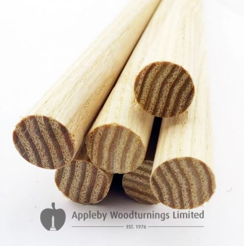 10pcs 5/8 Dia Ash Dowel Rods 36 Inches (15.87 x 914mm)