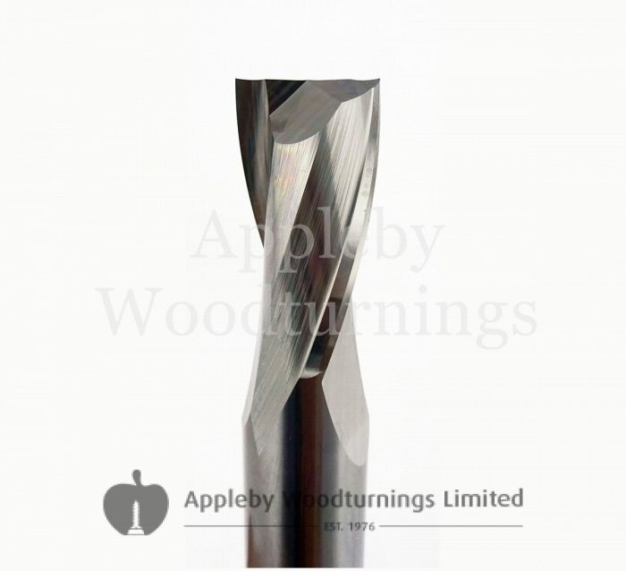 """1/2"""" dia x 1"""" cut CNC Finishing Spiral Router 2 Flute Positive R/H Kyocera"""