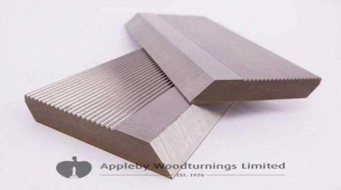 1 Pair HSS Serrated Profile Blanks 100 x 50 x 8 mm