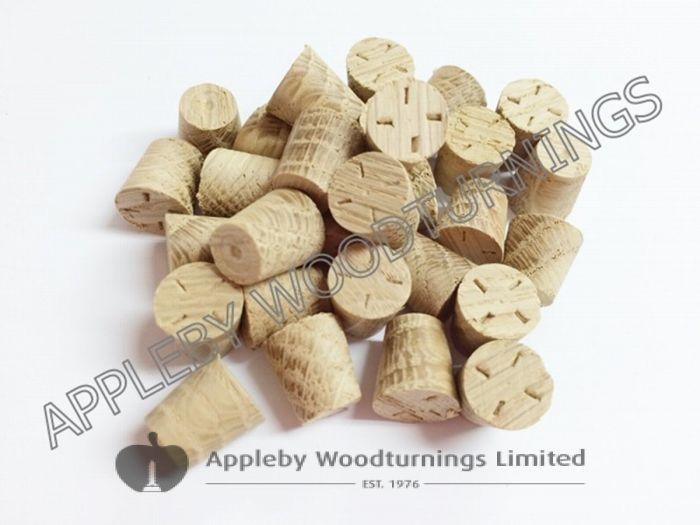 "3/8"" American White Oak Tapered Wooden Plugs 100pcs"