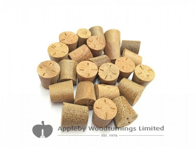 "3/8"" Balau Tapered Wooden Plugs 100pcs"