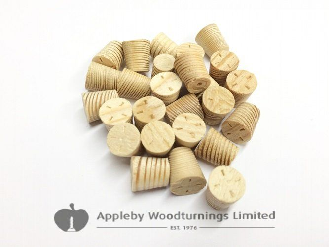 "1/2"" Larch Tapered Wooden Plugs 100pcs"