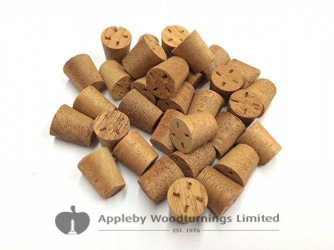 "3/8"" Mahogany Tapered Wooden Plugs 100pcs"