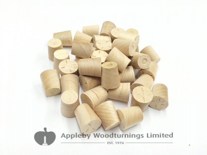 "3/8"" Maple Tapered Wooden Plugs 100pcs"