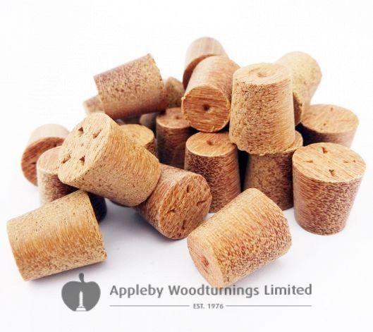 10mm Red Balau Tapered Wooden Plugs 100pcs