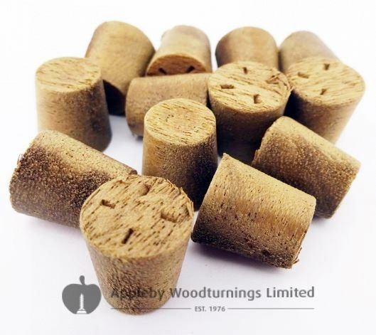 """1/2"""" American Brown Walnut Tapered Wooden Plugs 100pcs"""