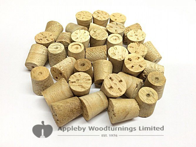 "3/8"" Idigbo Tapered Wooden Plugs 100pcs"