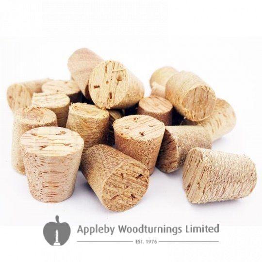"3/8"" Meranti Tapered Wooden Plugs 100pcs"