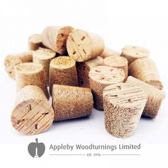 19mm Meranti Tapered Wooden Plugs 100pcs