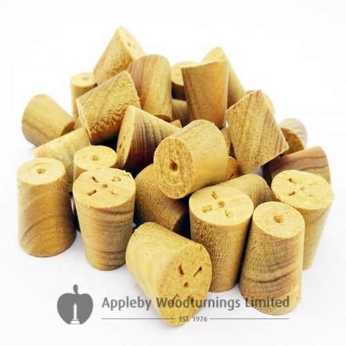"3/8"" Parana Pine Tapered Wooden Plugs 100pcs"