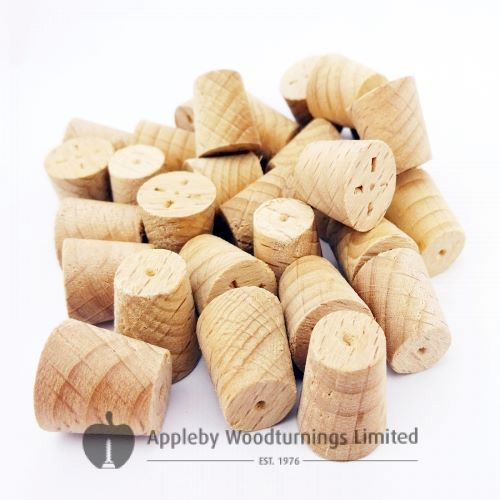 10mm Steamed Beech Tapered Wooden Plugs 100pcs