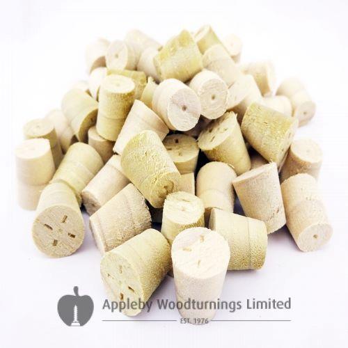 10mm Poplar Tapered Wooden Plugs 100pcs