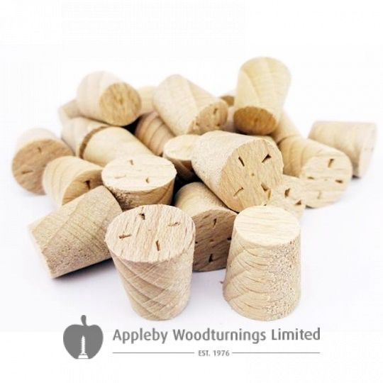 10mm White Beech Tapered Wooden Plugs 100pcs