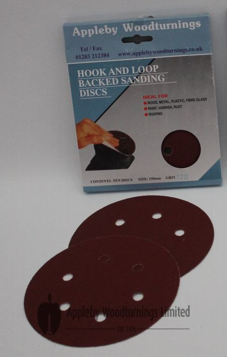 100 Pack 125mm Hook & Loop Sanding Discs Various Grit Sizes