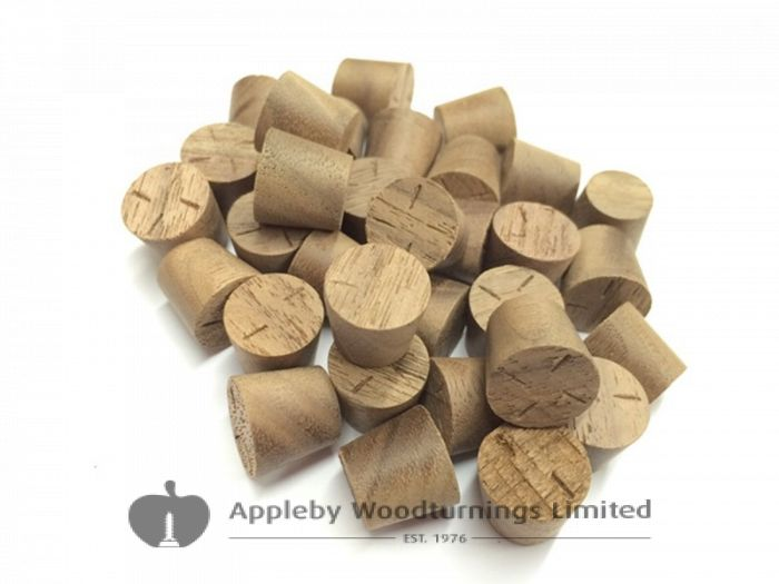 "1/2"" American Black Walnut Tapered Wooden Plugs 100pcs"