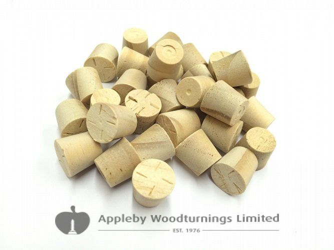 17mm Accoya Tapered Wooden Plugs 100pcs