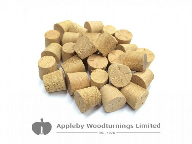 """1/2"""" Agba Tapered Wooden Plugs 100pcs"""