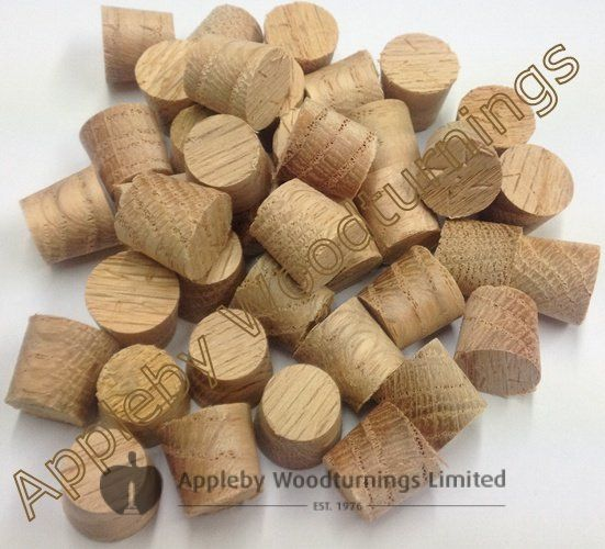 "3/8"" American Red Oak Tapered Wooden Plugs 100pcs"