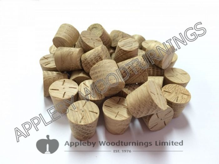 12mm American White Oak Tapered Wooden Plugs 100pcs
