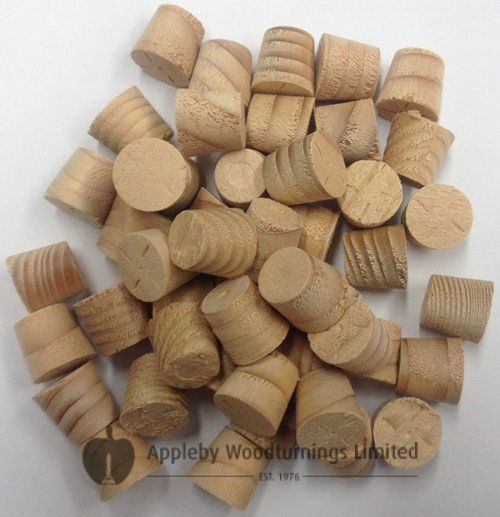 3/8 Inch Hemlock Tapered Wooden Plugs 100pcs