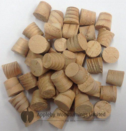 "1/2"" Hemlock Tapered Wooden Plugs 100pcs"