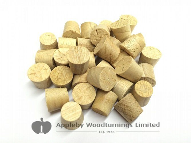 12mm Idigbo Tapered Wooden Plugs 100pcs