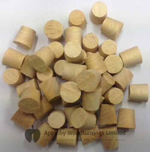 12mm Koto Tapered Wooden Plugs 100pcs