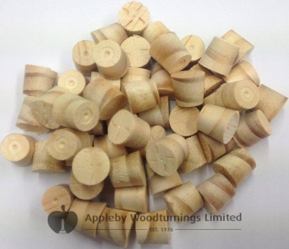 """1/2"""" N/Zealand Pine Tapered Wooden Plugs 100pcs"""