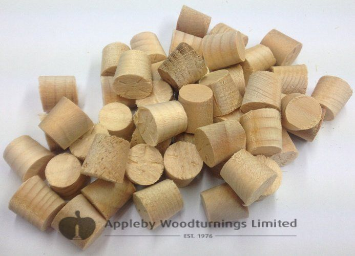 "1/2"" Parana Pine Tapered Wooden Plugs 100pcs"
