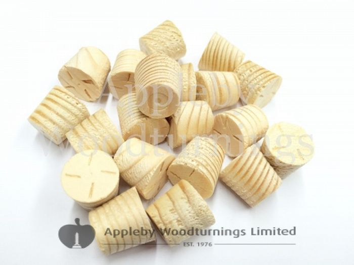 """1/2"""" Joinery Grade Redwood Tapered Wooden Plugs 100pcs"""