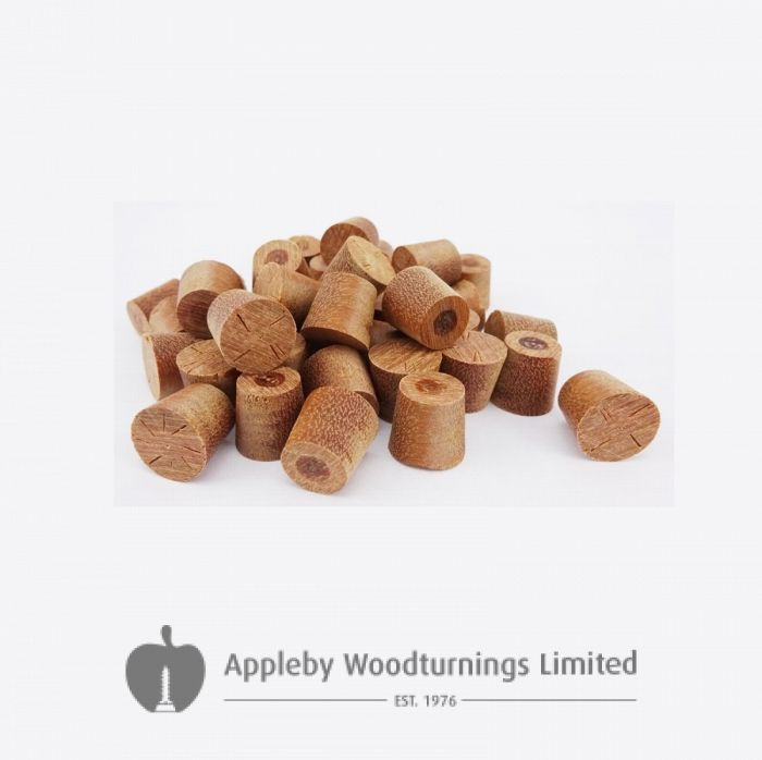 12mm Red Balau Tapered Wooden Plugs 100pcs
