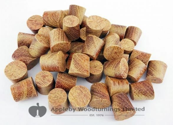 12mm Cumaru Tapered Wooden Plugs 100pcs