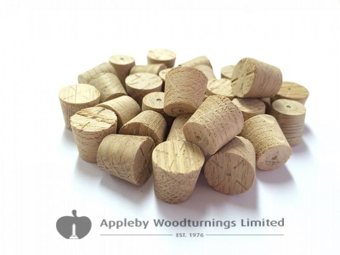 "1/2"" European Oak Tapered Wooden Plugs 100pcs"
