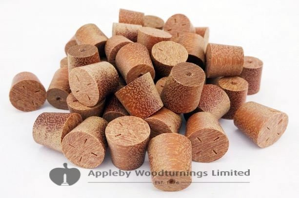 14mm Massaranduba Tapered Wooden Plugs 100pcs