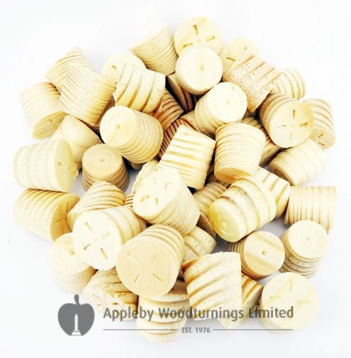 15mm Softwood / Pine Tapered Wooden Plugs 100pcs