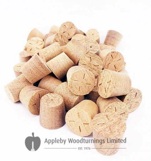 15mm Sapele Tapered Wooden Plugs 100pcs