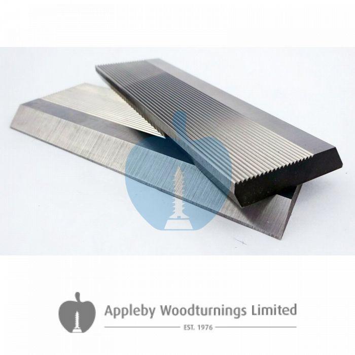 1 Pair HSS Serrated Profile Blanks 120 x 50 x 8 mm
