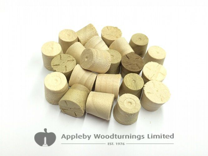 12mm Poplar Tapered Wooden Plugs 100pcs