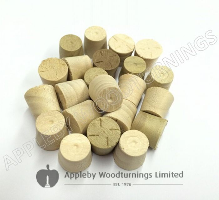 "1/2"" Tulipwood Tapered Wooden Plugs 100pcs"