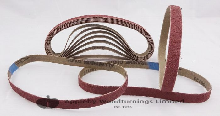 10 Pack 120 Grit Sanding Belts 13 x 457mm
