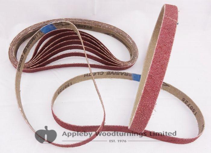 20 Pack Sanding Belts 13 x 457mm Various Grit Sizes