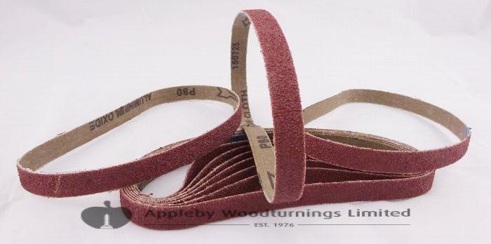 10 Pack 80 Grit Sanding Belts 13 x 457mm