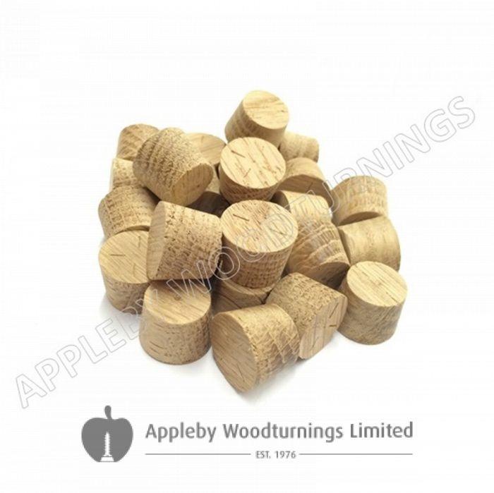 14mm American White Oak Tapered Wooden Plugs 100pcs