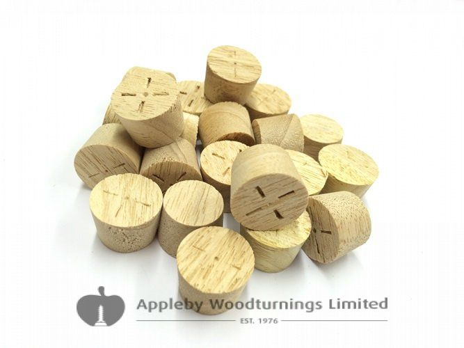 15mm Idigbo Tapered Wooden Plugs 100pcs