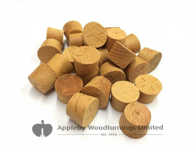 "3/8"" Opepe Tapered Wooden Plugs 100pcs"