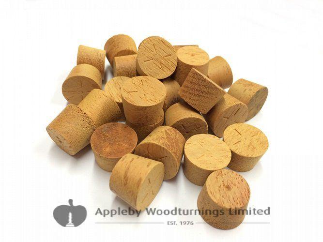 "1/2"" Opepe Tapered Wooden Plugs 100pcs"