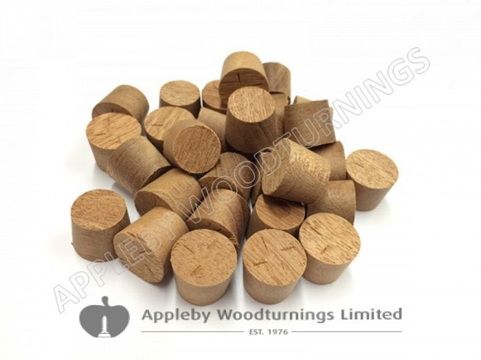 """1/2"""" Sapele Tapered Wooden Plugs 100pcs"""