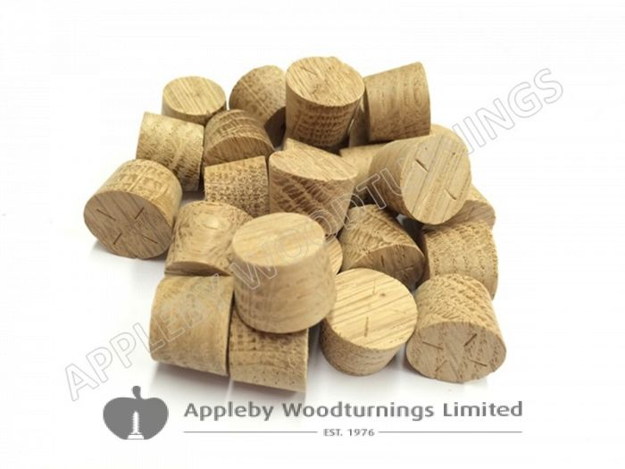 15mm American White Oak Tapered Wooden Plugs 100pcs
