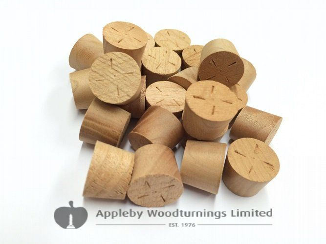 "3/8"" Cherry Tapered Wooden Plugs 100pcs"